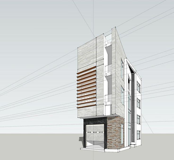 Sketchup modeling - Binh Thanh house.