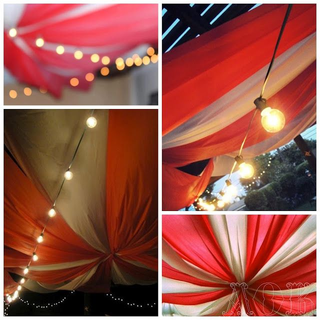 diy carnival tent made from tablecloths - Orange Canopy Decorating