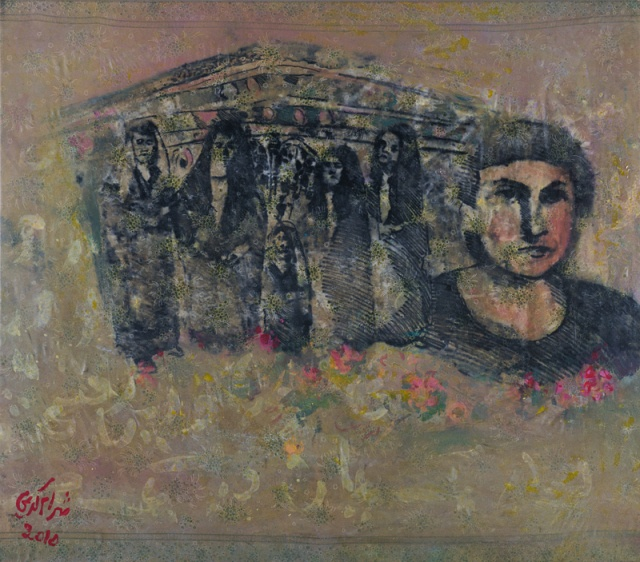 my mother.Shahram Karimi, a Persian artist based between Berlin and New York City, was born in Shiraz in 1957. Shahram grew up in an artistic family in Shiraz; one of his brothers was an artist, and the other a poet. Shahram started painting and drawing at the age of nine. By the time he entered High School, Shahram's classmates all knew that he was destined to become a painter.