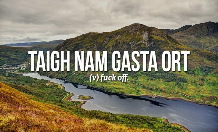 Sweary Scottish Gaelic Words