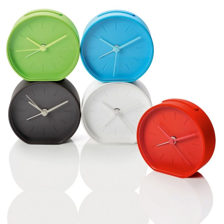 The Red Lexon Beside alarm clock is a contemporary analogue alarm clock available in red, white, grey or blue. Buy now at Gifts with Style.