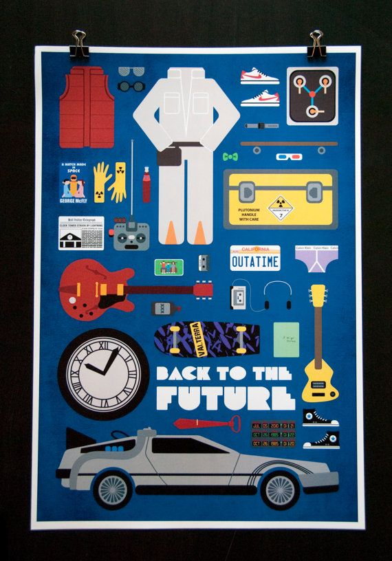 Back to the Future - Movie Parts Poster