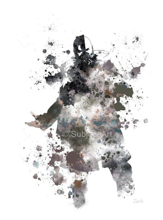 Bane ART PRINT Illustration, Batman, DC, Superhelden und Superschurken. Wohnkultur, Wandkunst