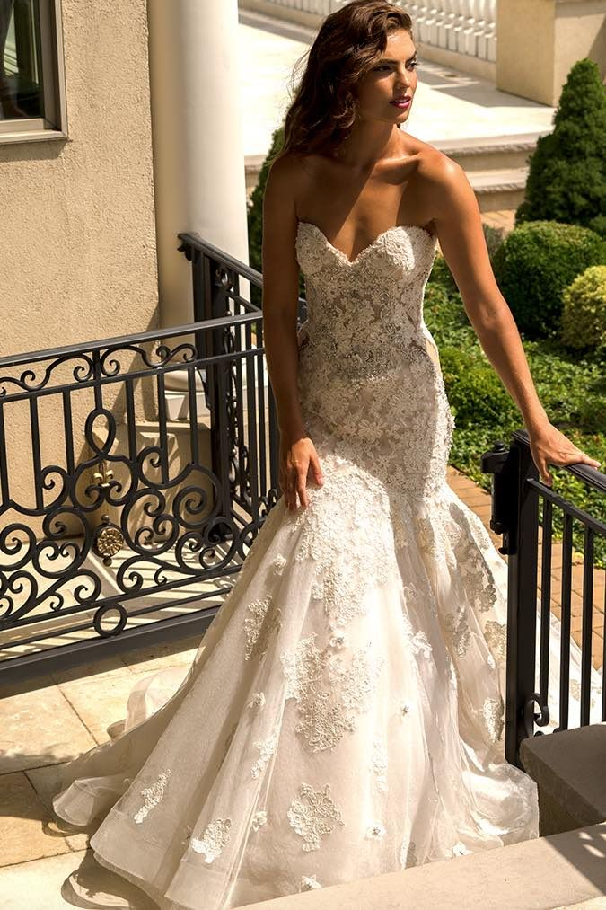Eve of Milady wedding dresses with intricate embroidery; click to see more gorgeous gowns from this collection.