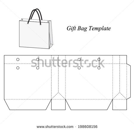 Ping Bag Template Vector Ilration Stock Bags And Bo Paper Box Gift Design