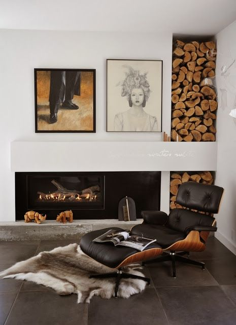 wood, leather + texture - the perfect complements
