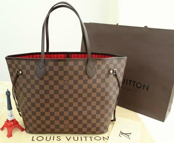 #LV #LVbags Louis Vuitton Neverfull MM Brown Shoulder Bags N51105 Louis Vuitton Sale For Cheap,Designer handbags For Cheap,75% OFF!