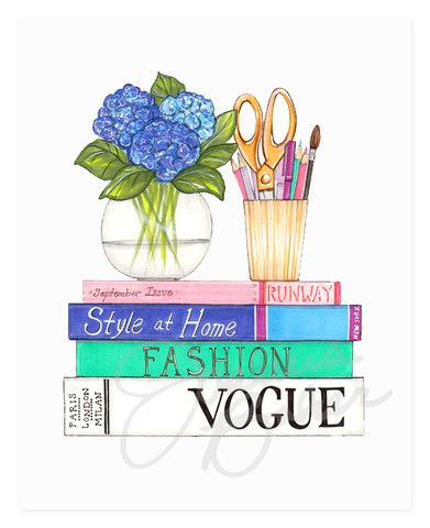 Fashionable Reading Art Print