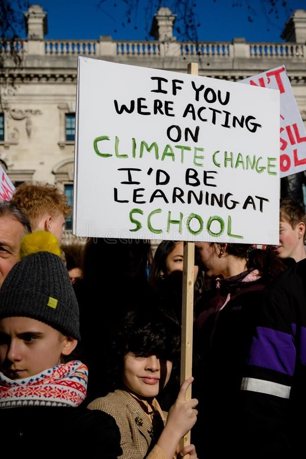 School Strike For Climate Change Royalty Free Stock Image Sponsored Climate Change Schoo Climate Change Poster School Strike Climate Change Activities