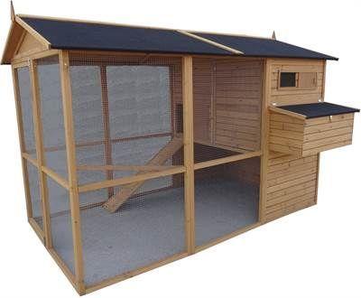 Hønsehus med Hønsegård Model BERTHA incl LEVERING