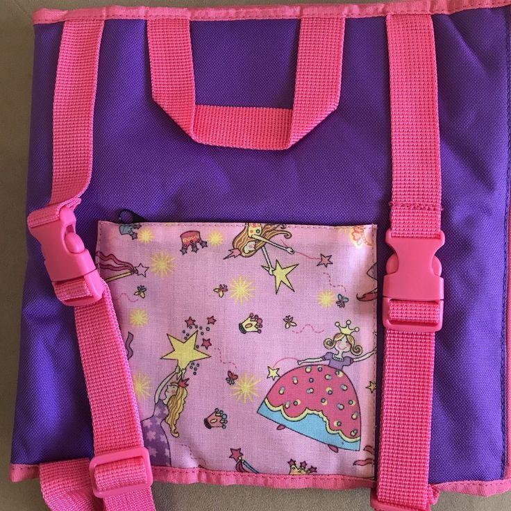 Portable Playtime Mat Childrens Pink Purple Travel Backpack Princess Theme #PortablePlaytime