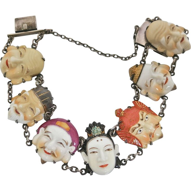 Seven Gods Bracelet by Toshikane from The Pearl Antiques on Ruby Lane