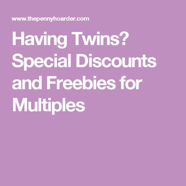Pregnant with twins freebies