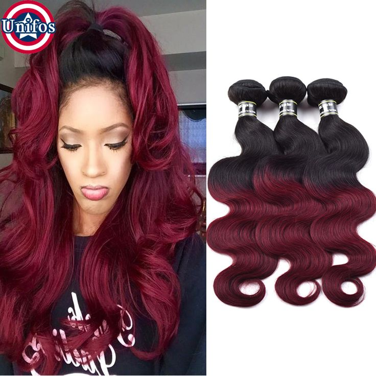 Find More Human Hair Extensions Information about Ombre Burgundy Human Hair Extensions 1B 99j Ombre Brazilian Body Wave Hair Weave Bundles Ombre Red Wine Color 3 Bundles Unifos,High Quality hair kitty,China hair removal facial hair Suppliers, Cheap hair cuts short hair from Unifos Hair Products Co.,Ltd. on Aliexpress.com