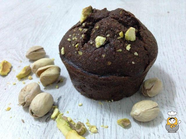 Magdalenas de chocolate y pistachos - Vuelta y Vuelta