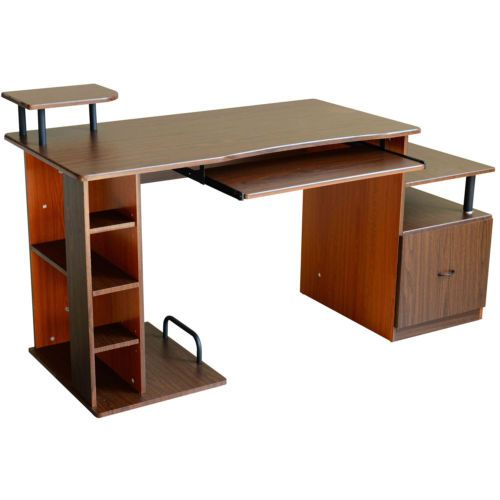 PC Computer Desk Home Study Work Station Desktop Table - 2 Tone | Home