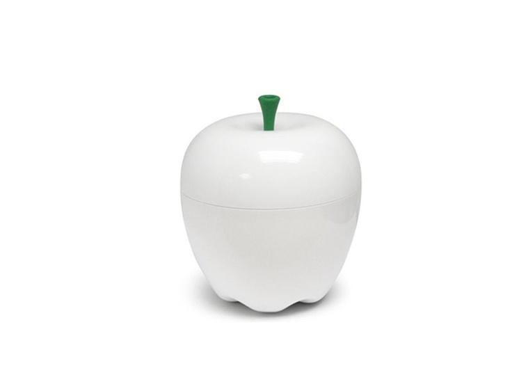 Mooie opberg 'appel' voor op het aanrecht of op tafel!  Ideaal voor kleine spullen, groenafval, ijsblokjes, theezakjes,…of als snoepkom!