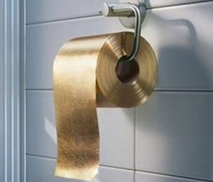 Best Strangest Golden Objects In The World Images On Pinterest - Gold flake toilet paper