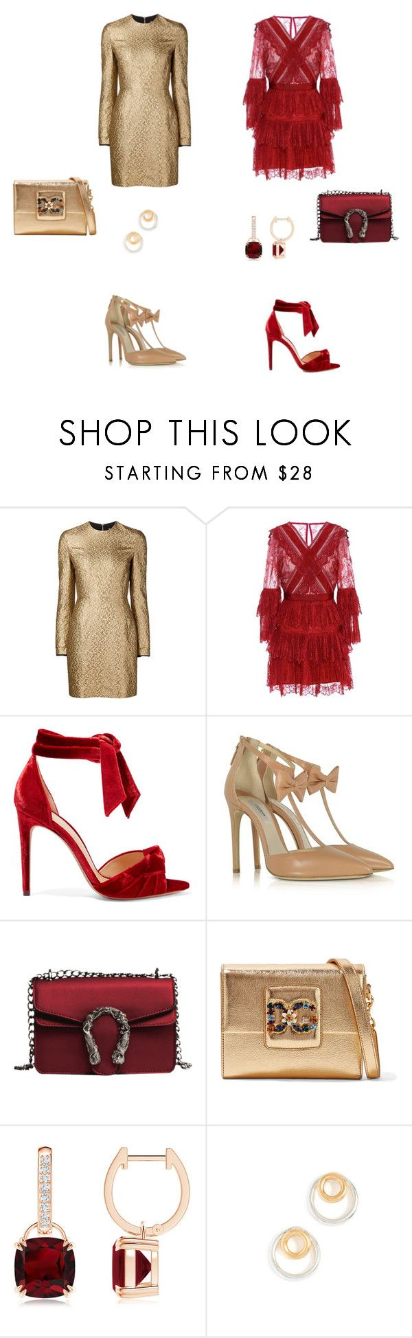 Untitled #84 by ru-mo on Polyvore featuring Creatures of the Wind, self-portrait, Olgana, Alexandre Birman, Dolce&Gabbana and Madewell