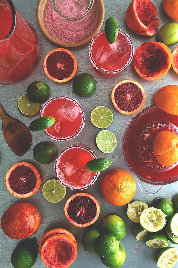 Blood Orange Margarita Pitchers