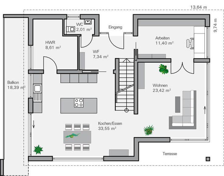Stadtvilla moderne architektur grundriss  91 besten Grundrisse Bilder auf Pinterest | Grundriss ...