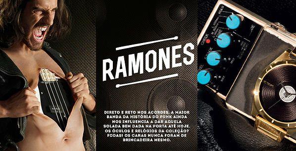 Chilli Beans + Rock o que poderia dar?  Nada menos do que a coleção ROCK FELLAS homenageando 3 nomes conhecidos desta cena, Amy Winehouse e Rita Lee na coleção feminina e um dos maiores ícones do punk rock, Ramones para a coleção masculina.  A coleção inteira está linda mas o que realmente nos interessa é a parte masculina, confira no blogdoleoklein.com a coleção completa Ramones.  #estilomasculino #trendy #fashion #blogger #inspiration #style #chillibeans #rockfellas #ramones #moda