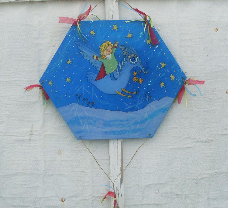 Little Prince ( Special Design ) - Wooden Kite Mικρός Πρίγκιπας ( Ιδιαίτερο Σχέδιο ) - Ξύλινος Χαρταετός