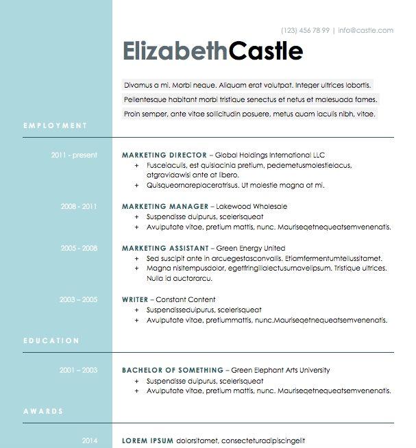 Free Resume Download Blue Side Microsoft Word Format Microsoft Word Resume Template Cv Template Cv Design Template