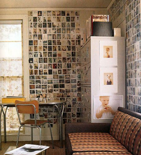 DIY photo wall-paper - so brilliant