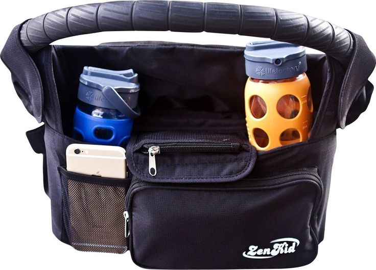 Best Stroller Organizer & Strollers Bag - Insulated Cup Holder & Diaper Caddy For Baby Accessories - Lightweight & Durable Parent Console + Lots Of Storage Space - Perfect Baby Shower Gift