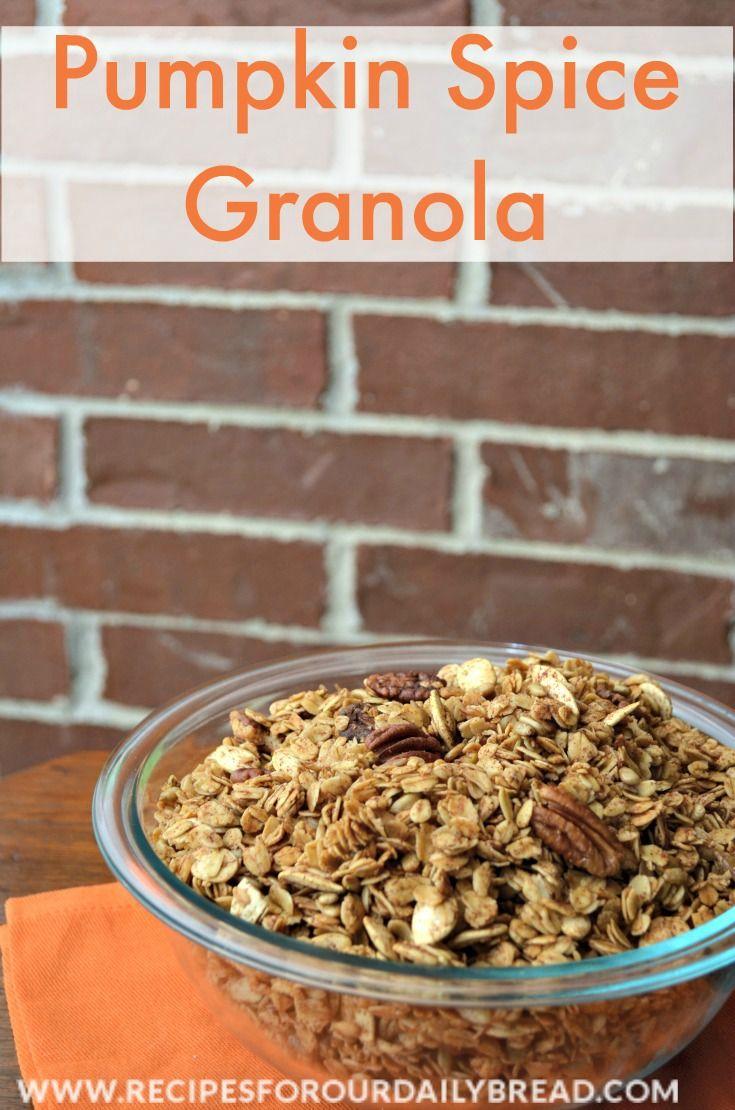 Pumpkin pie spice, Granola and Pumpkin pies on Pinterest