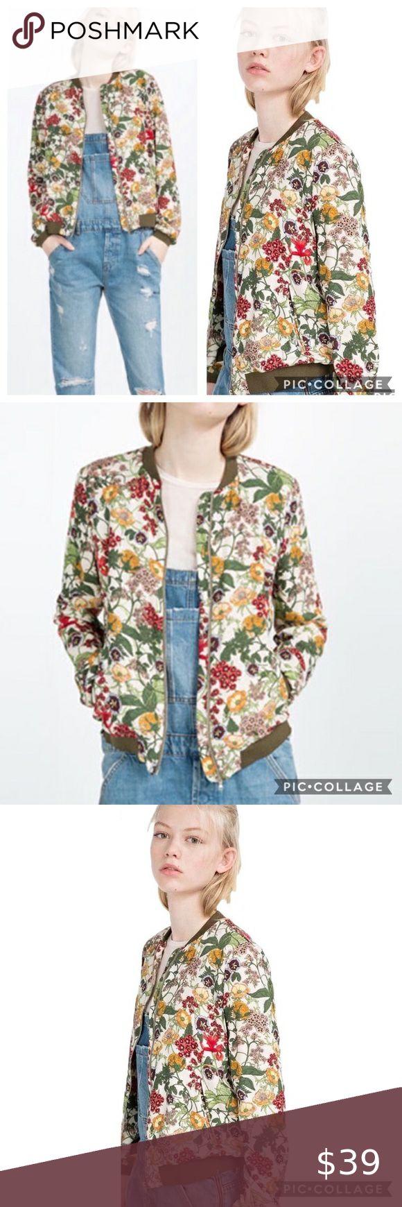 Zara TRF Outerwear Floral Bomber Jacket in 2020 Floral