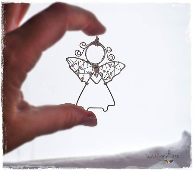Drót ékszer angyal