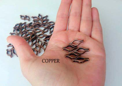30 pcs copper coated  charm 3 Holes lip-shaped  apparatus copper metal  jewelry making charm, Findings, Charm , Antique copper NO PAYPAL!
