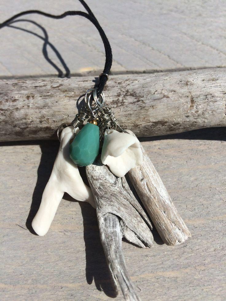 PEETLEIN  Sea treasure Porselein, jut-hout & glas