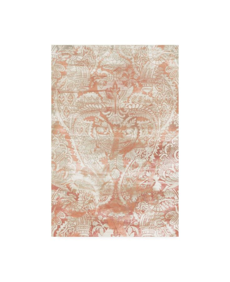 June Erica Vess Garnet Weft I Canvas Art – 20″ x 25″ – Multi