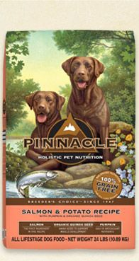 Pinnacle has released grain free, made in the USA, limited ingredient dog food that your pet will love.