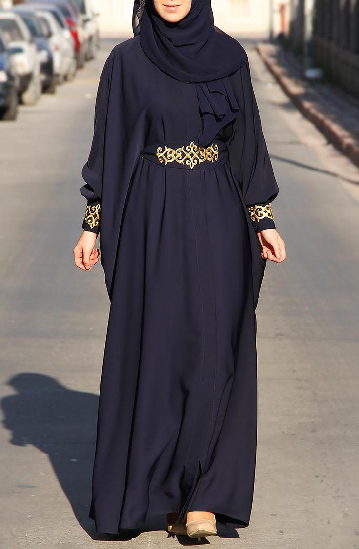Şahmeran Abaya Ferace - Lacivert Check out our amazing collection of hijabs at http://www.lissomecollection.co.uk/