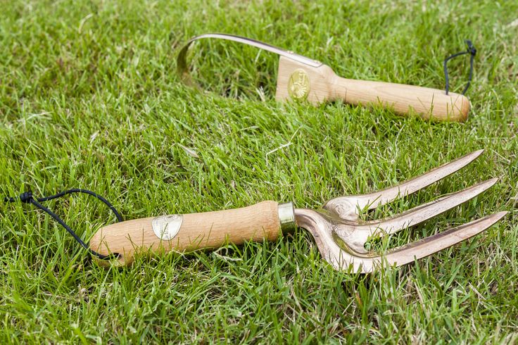 Vega hand fork from the Modern Mint shop in the copper gardening tool range ... and a nunki hiding in the background.