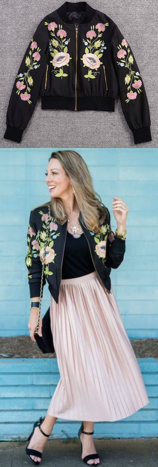 A Floral Embroidery Jacket is now available at $75 from Pasaboho. ❤️ This Fashion Jacket exhibit unique embroidered flowers. ❤️ boho fashion :: gypsy style :: hippie chic :: boho chic :: outfit ideas :: boho clothing :: free spirit :: fashion trend :: flo