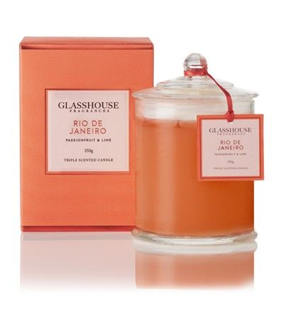 Rio de Janeiro Passionfruit & Lime 350g Triple Scented Candle by Glasshouse Fragrances