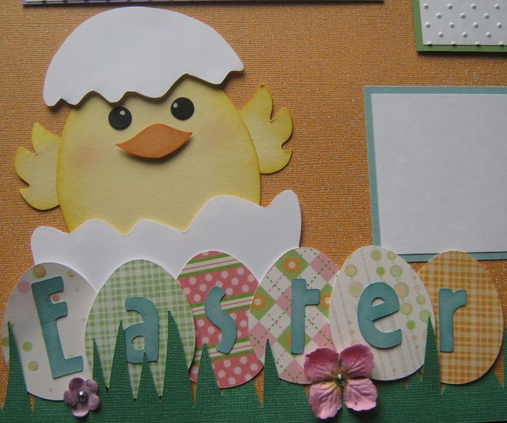 Easter Premade 12x12 Scrapbook Page Layout.