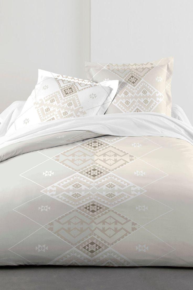 Vendita Fil Blanc / 23856 / Biancheria da letto / Parure lenzuola / Parure Lenzuola Azteca Ecrù e Bianco