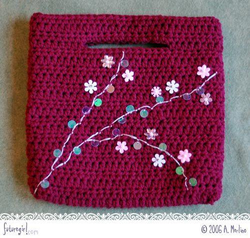futuregirl craft blog : Seamless Crochet Purse