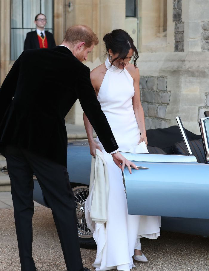 Meghan S Second Wedding Dress And Car Is About As Hollywood As It Gets Harry And Meghan Wedding Royal Wedding Dress Second Wedding Dresses