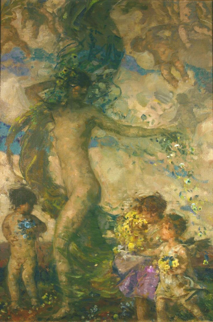 Spring, c. 1925, Carl von Marr, Museum of Wisconsin Art, 0003.