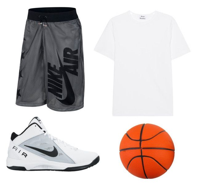 """""""Basketball Outfit"""" by chrome13 ❤ liked on Polyvore featuring Acne Studios, NIKE, men's fashion and menswear"""