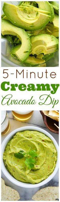 Creamy Avocado Dip ready in just 5 minutes! Perfect for parties, picnics, or game day events. A great dairy free and vegan option