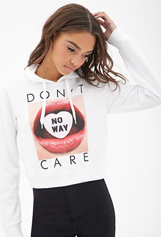 No Way Boxy Hoodie   FOREVER21 - 2056035508