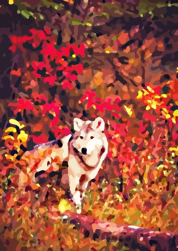 Check out this item in my Etsy shop https://www.etsy.com/ru/listing/474916020/the-wolf-stylish-neo-impressionism-print